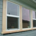 exterior window trim mural of outside window trim: