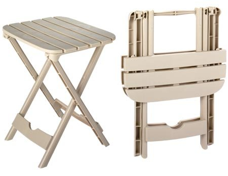 folding patio table plastic folding patio end table, 2-pc set (quick fold) (great YINAHMA