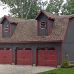 garage sheds legacy 2 story maxibarn three car