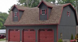 garage sheds legacy 2 story maxibarn three car prefab garage UFLHNFW