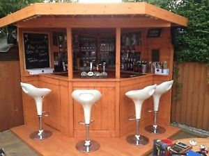 garden bar image is loading deluxe-7ft-corner-bar-garden-bar-entertainment-area- DUVTVYV