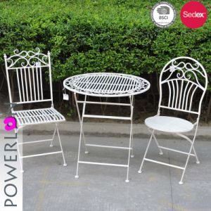 garden bistro sets iron sheet folding outdoor garden bistro set VCBUXJA