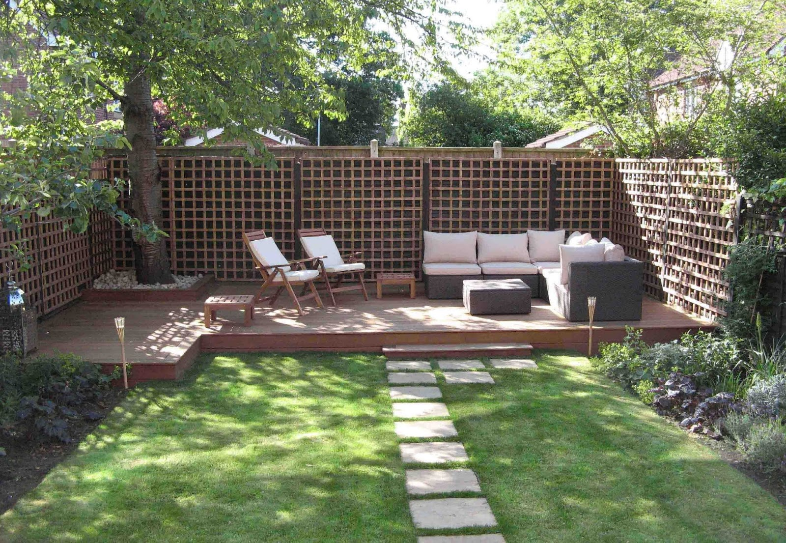 garden decking ideas garden decking away from the house JEWDESH