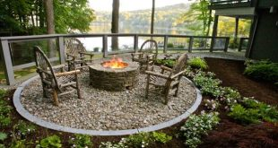 garden design ideas fire pit QGNMBZZ