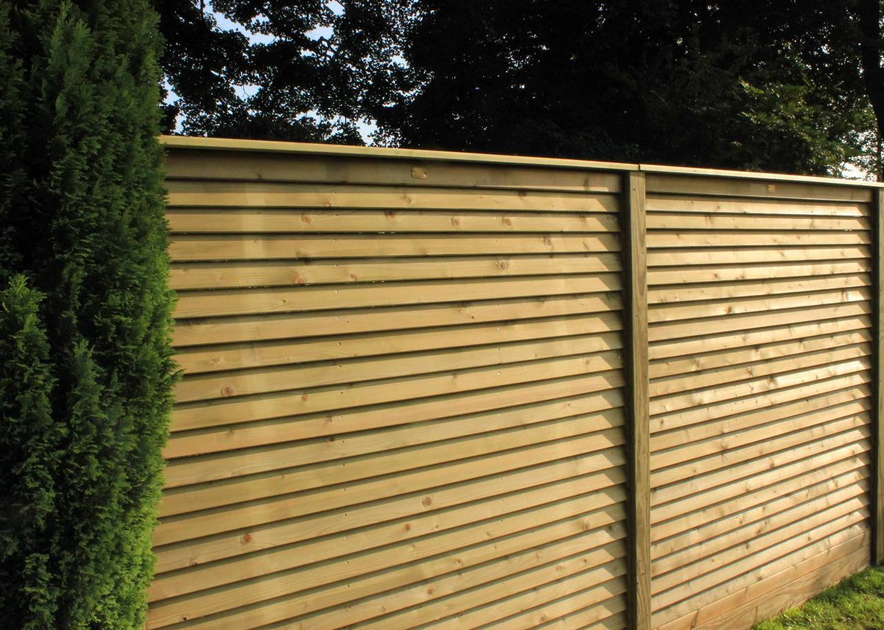 Garden Fence Panels Louvre Contemporary Fence Panels