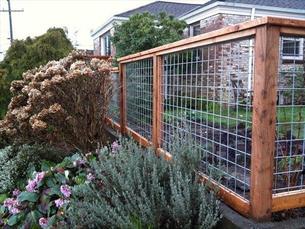 garden fencing ideas more wood frame wire fence ideas: ORBFNLY