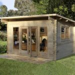 garden log cabins installed forest garden melbury 44mm