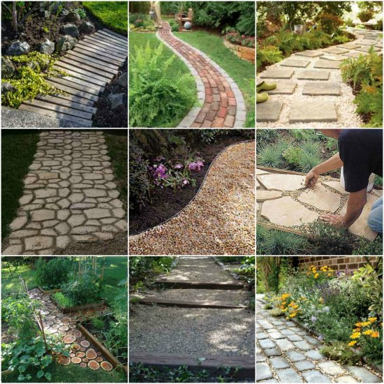 garden path ideas diy-garden-path-ideas QKEWJQY