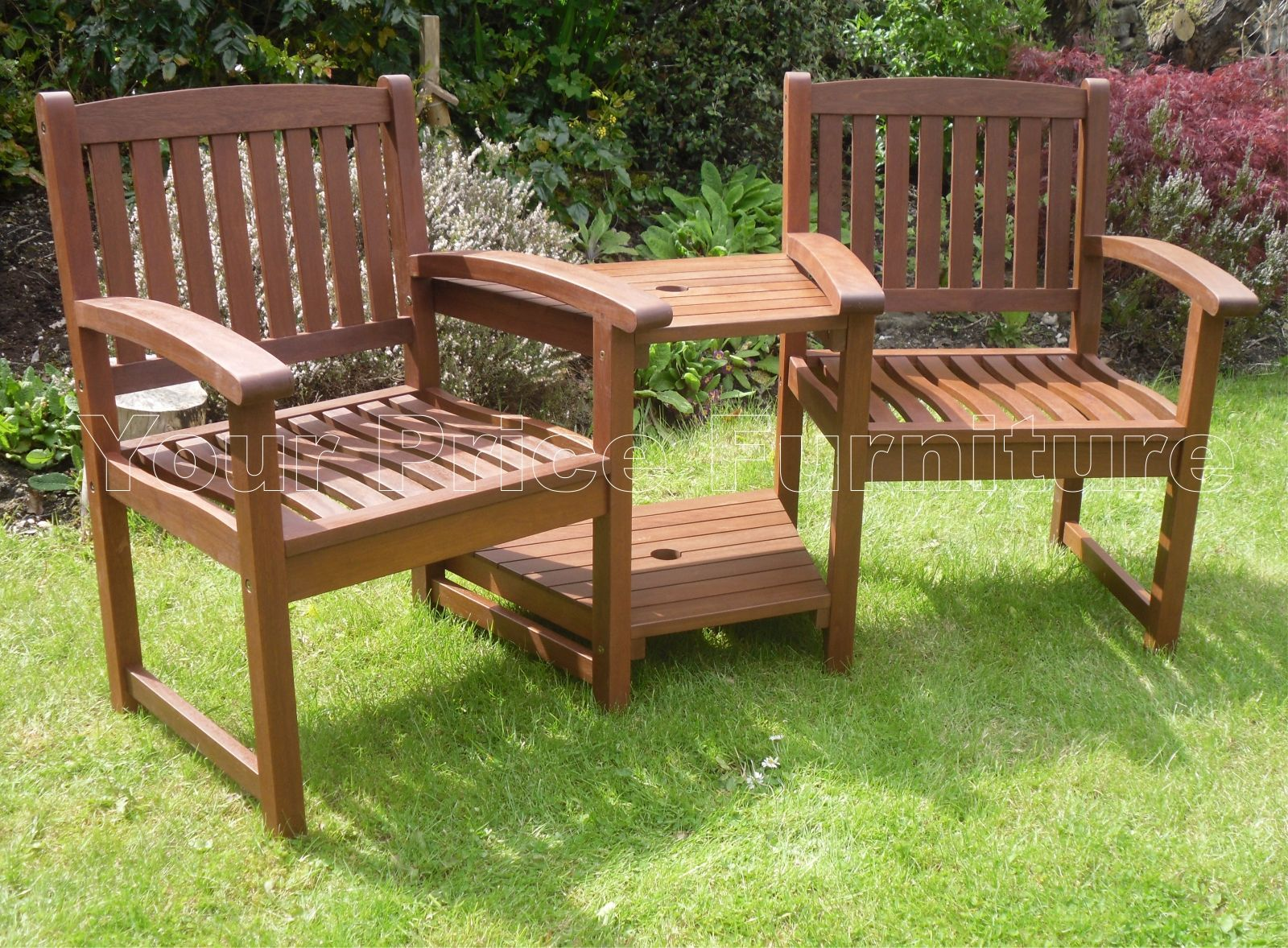 garden seat henley corner love seat hardwood garden bench 1/2 price sale now on JKGKYAE