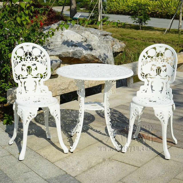 garden sets 3-piece cast aluminum durable tea set patio furniture garden furniture  outdoor AQECJFO