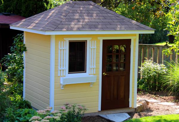 garden shed kits cedar sonoma backyard studio summerwood