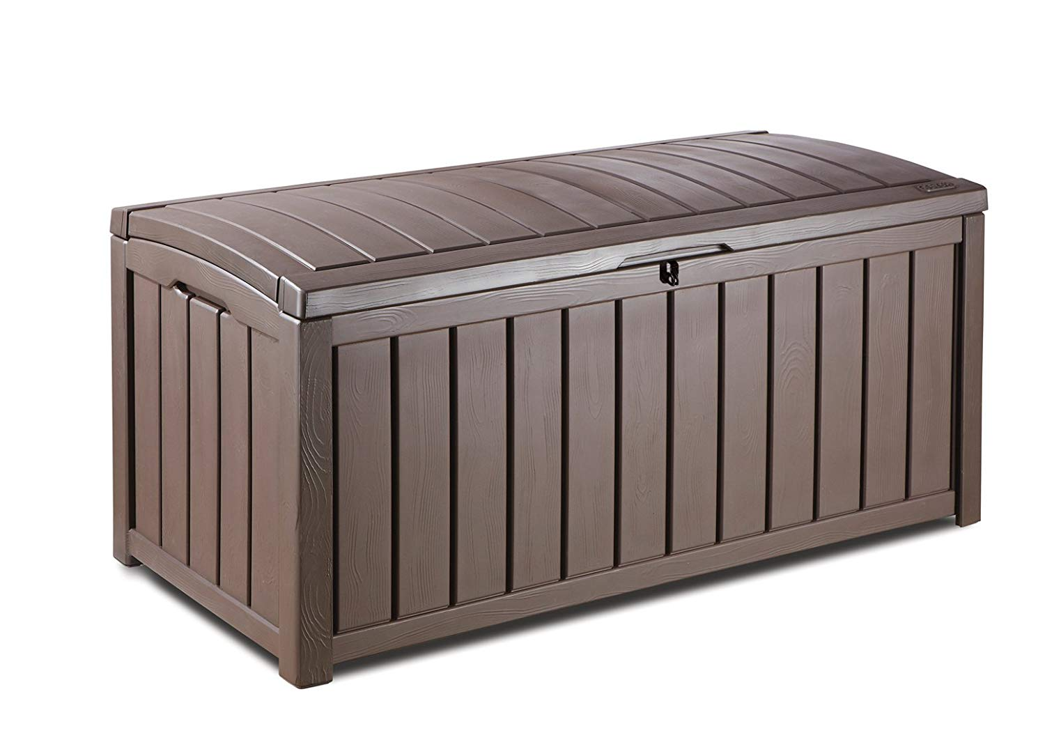 garden storage boxes amazon.com: keter glenwood plastic deck storage container box 101 gal: home HPUTYMM