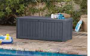 garden storage boxes image is loading grey-keter-extra-large-garden-plastic-outdoor-storage- ENUNMZT