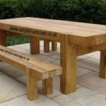 garden tables rustic oak beam garden table LTWPQWI