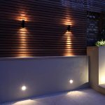 garden wall lights 2 x black pir stainless