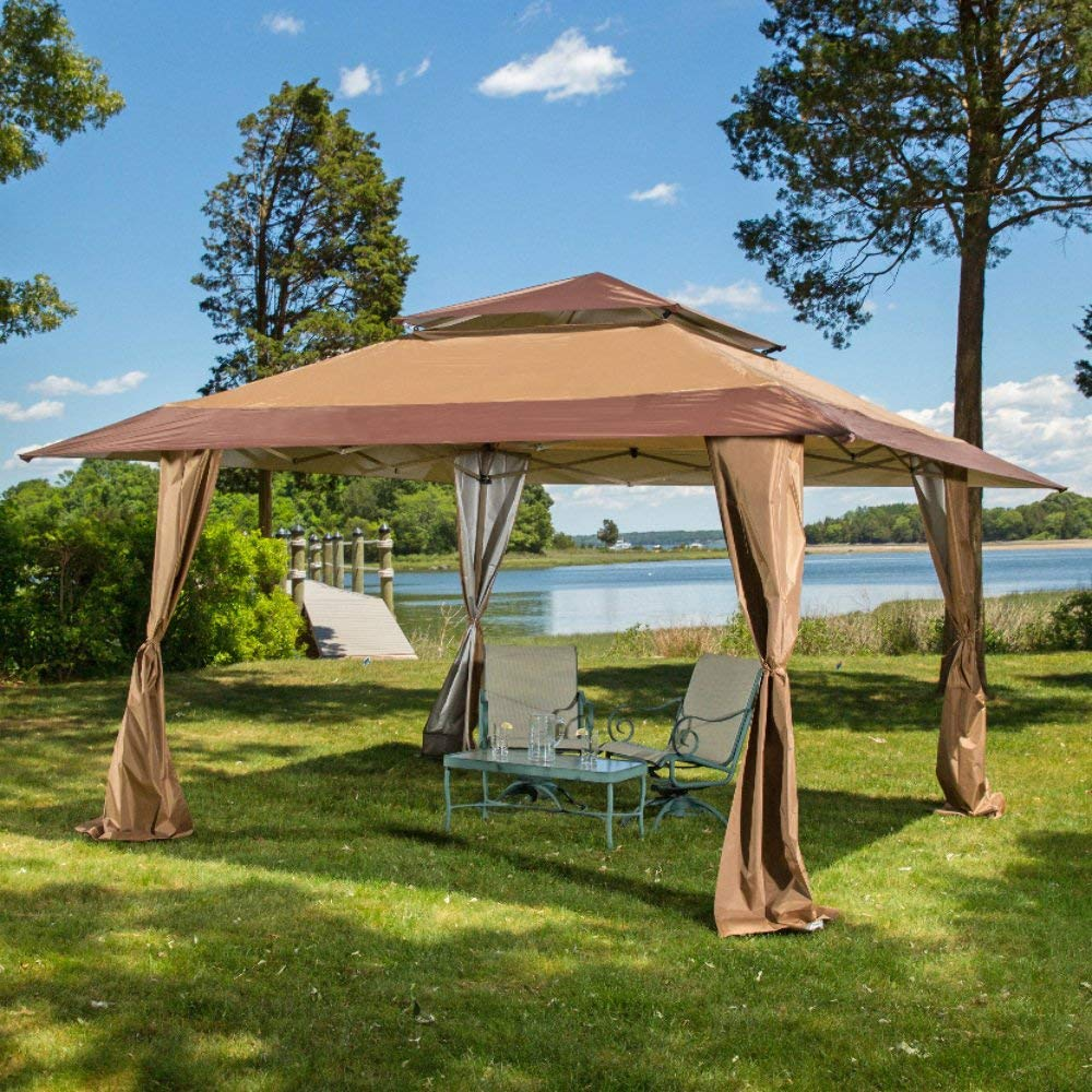 gazebo tent amazon.com : 13 x 13 pop-up canopy gazebo. great for providing extra GBKWQHD