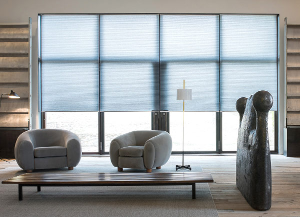 honeycomb shades cellular shades | 3/8 double cell lf | deep silver LXCZOTP