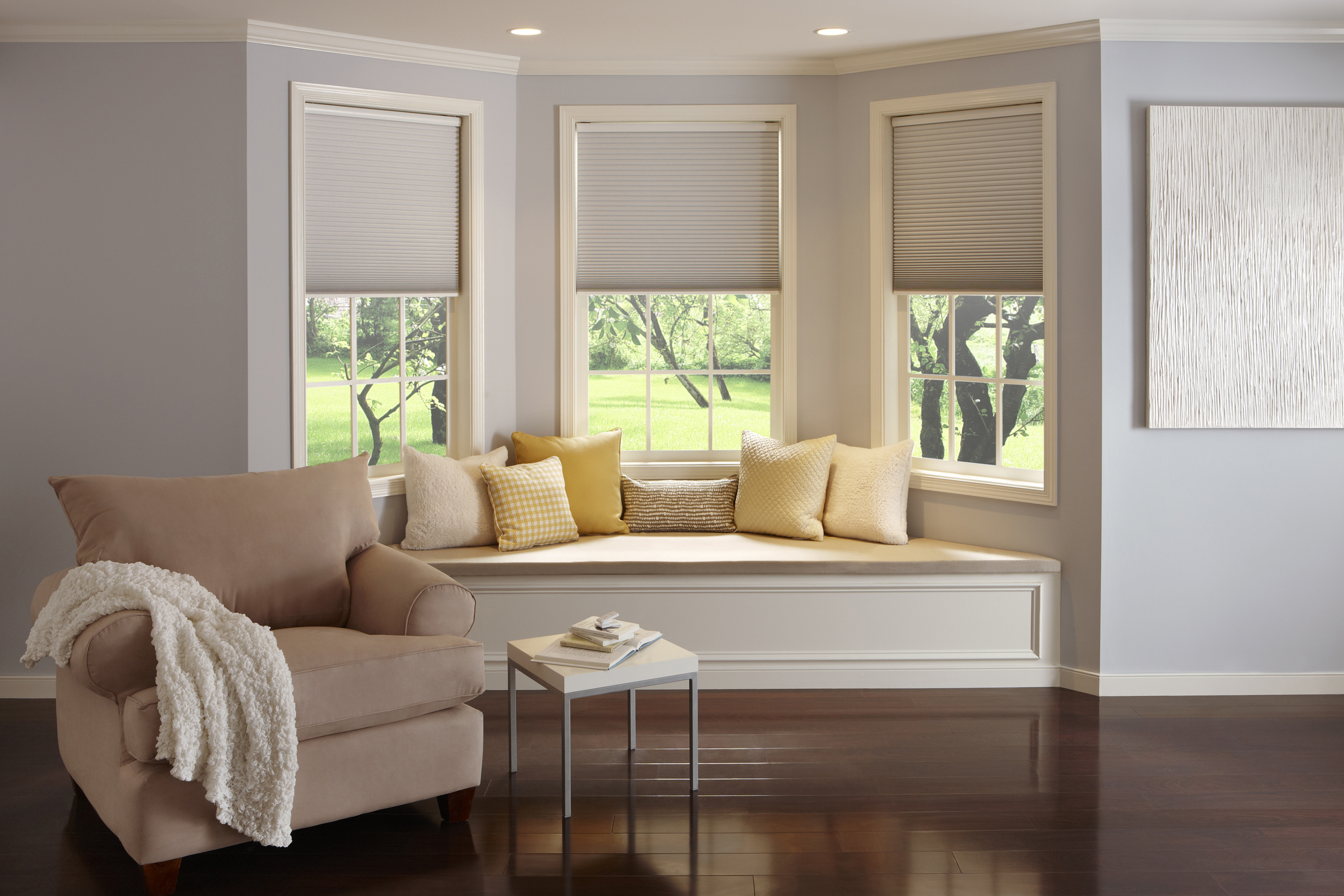 honeycomb shades motorized room darkening cellular shades | thehomedepot GVIIPFQ