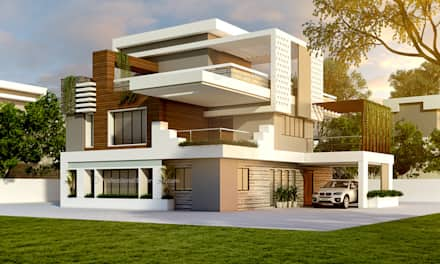 house design ideas 3d exterior house design: single family home by thepro3dstudio CDORZRK