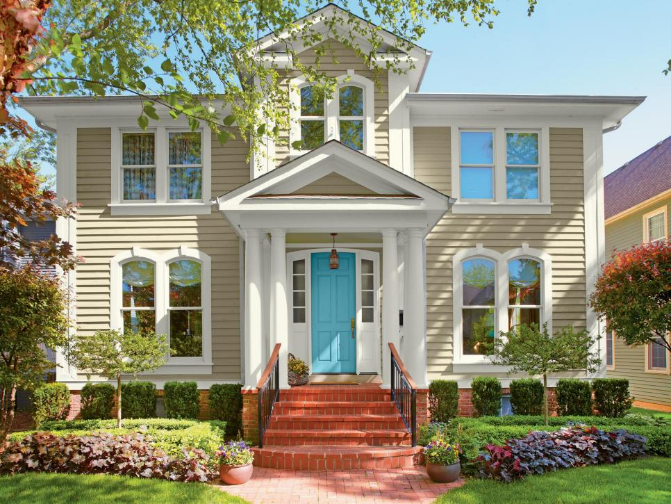 house exterior colors 28 inviting home exterior color ideas | hgtv JKAAJAT