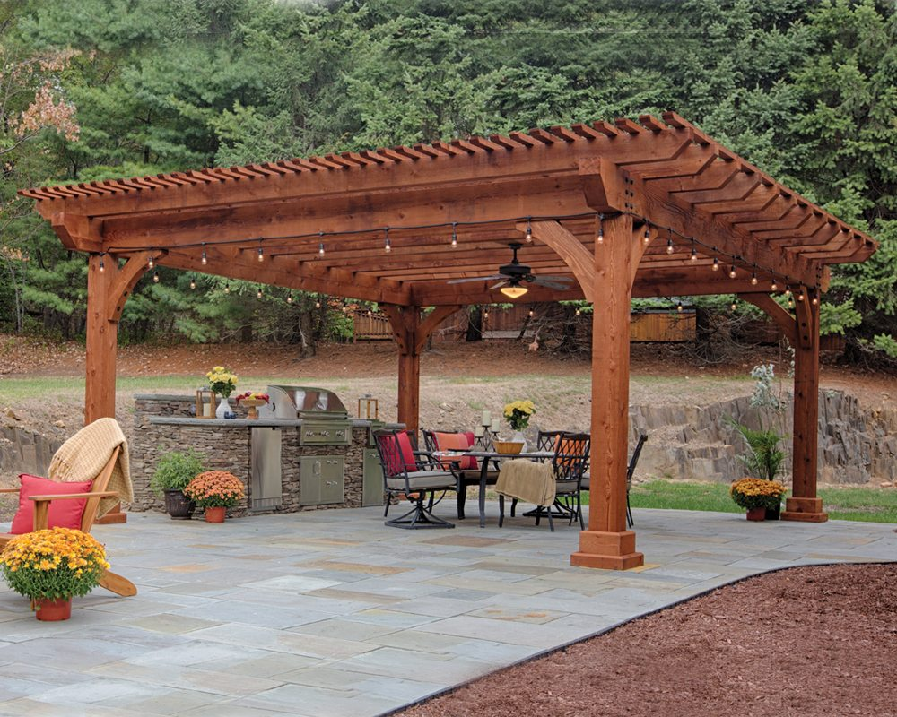 kingston wooden pergola IZLVECR