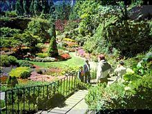 landscape design view of the sunken gardens at butchart gardens MHUDOLC