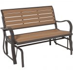 lifetime wood alternative patio glider bench JGBMKEO