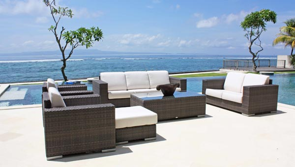luxury garden furniture designer rattan sofas DKTMYWG