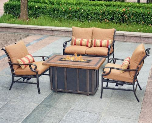 menards patio furniture backyard creations® palm bay 4-piece fire pit patio set at menards® CZUGXKD