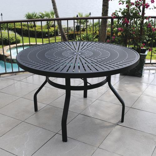 menards patio furniture backyard creations® sanibel round dining patio table at menards® GTIDWIU