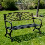 metal garden chairs outdoor bench patio chair metal