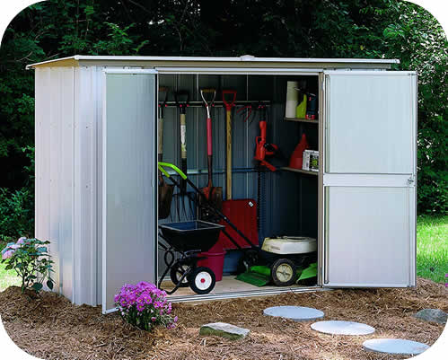 metal garden sheds garden shed 8x3 arrow storage shed LZTXRHC
