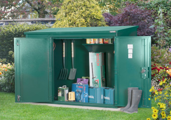 metal garden sheds high security metal garden shed storage - police approved OWJAKPR