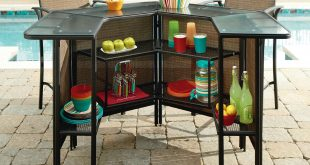 outdoor bar furniture garden oasis garden oasis harrison 5 pc. outdoor bar set *limited NQDOWSD