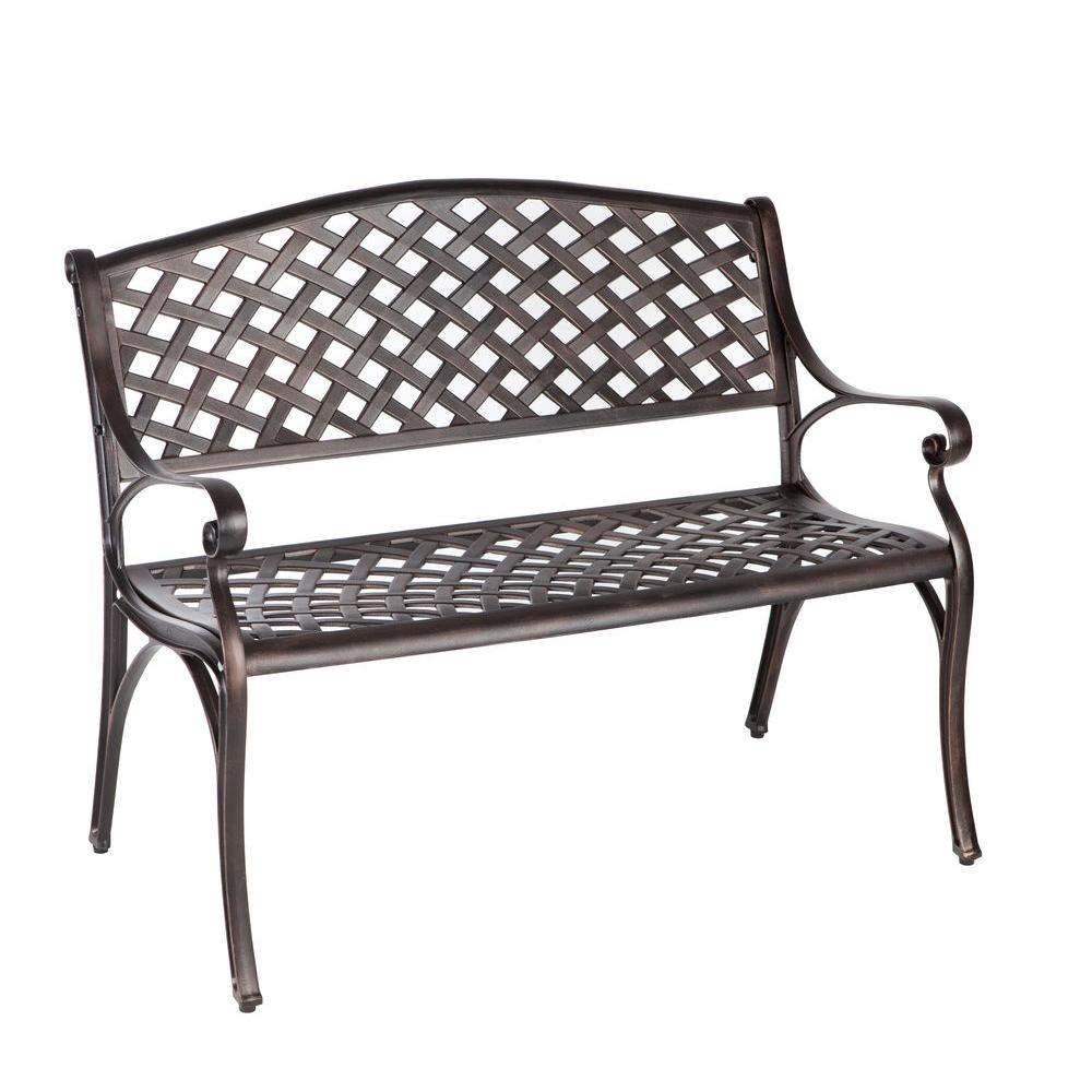 outdoor benches patio sense antique bronze cast aluminum