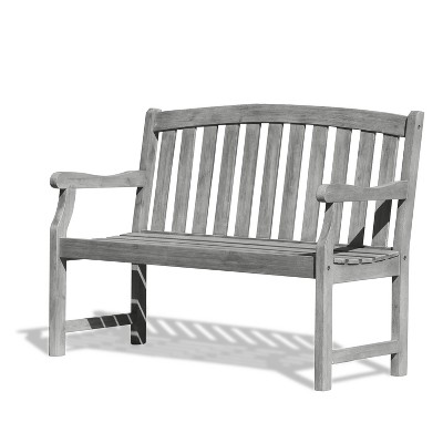 outdoor benches vifah renaissance eco-friendly 4u0027 outdoor hand-scraped