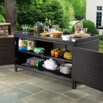 outdoor buffet table with cabinets CKOVKMZ