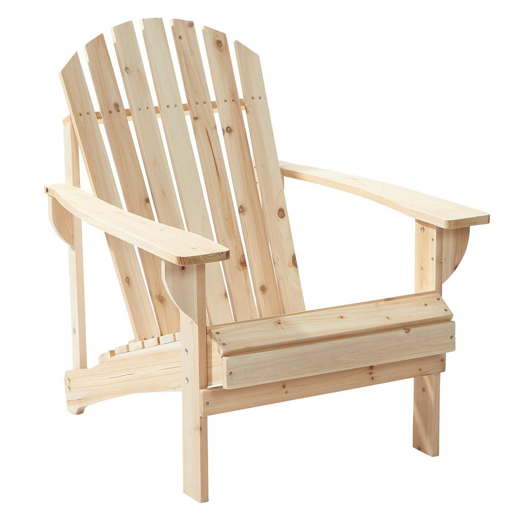 outdoor chair hampton bay unfinished stationary wood outdoor adirondack chair (2-pack) XJWHMRS