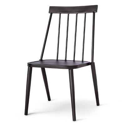 outdoor chair windsor metal stack club chair - black - project 62™ RIXBODY