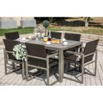 outdoor dining sets 7 piece dining set DGCSHOO