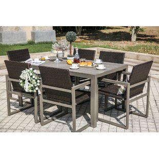 outdoor dining table 7 piece dining set ZPINFDJ