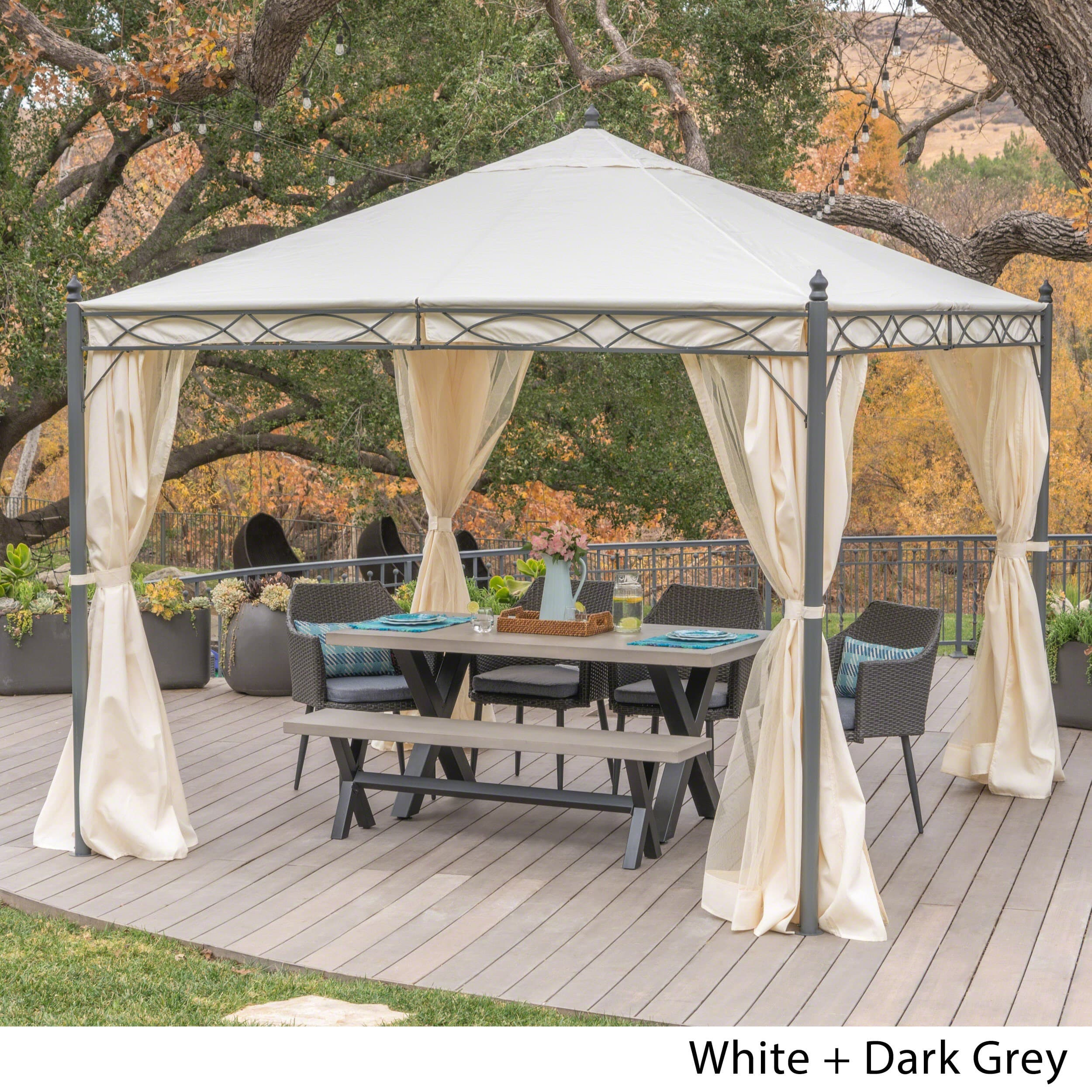 outdoor gazebo shop sicilia outdoor steel gazebo by christopher knight home - on sale NLZMIJU