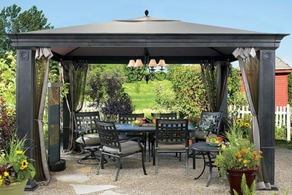 outdoor gazebo tiverton gazebo replacement canopy / high-grade ... OIMYQPZ