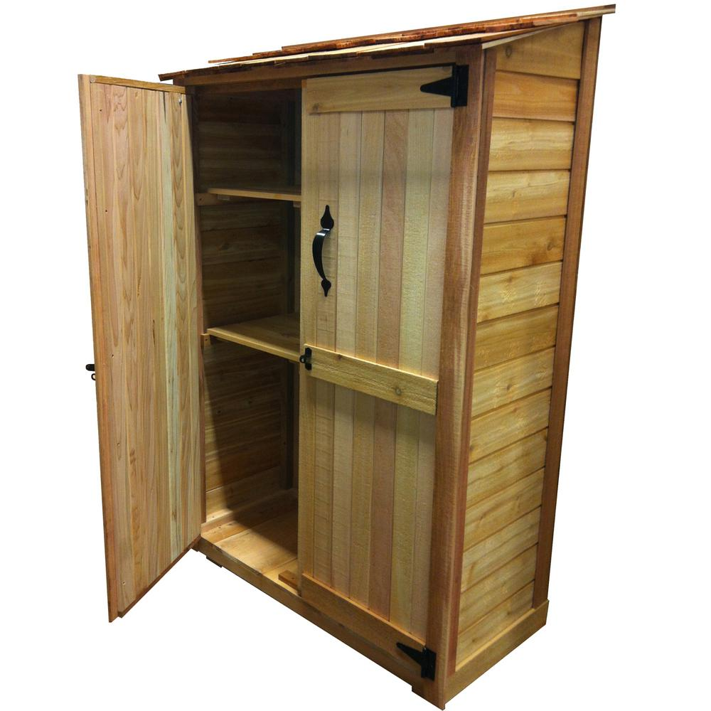 outdoor living today 4 ft. x 2 ft. cedar garden storage shed SCAEMOS
