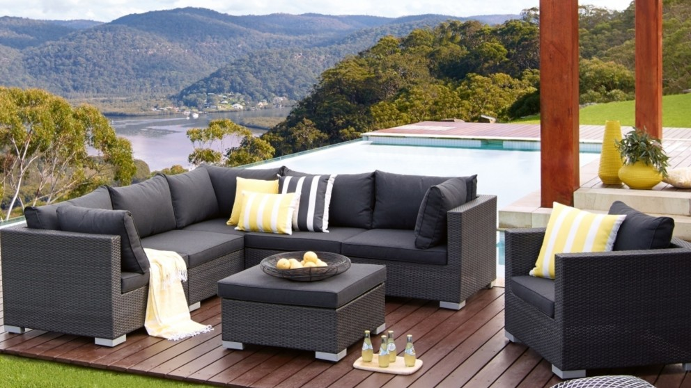 outdoor lounge buy newport outdoor 7-piece modular lounge setting | harvey norman au SEYQFZT
