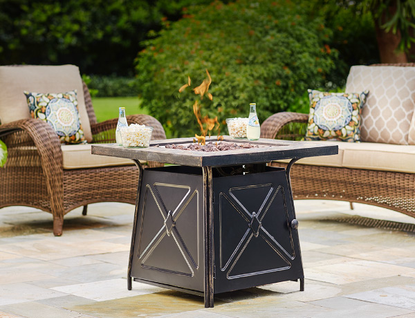 outdoor lounge fire pit sets OKBWFEB