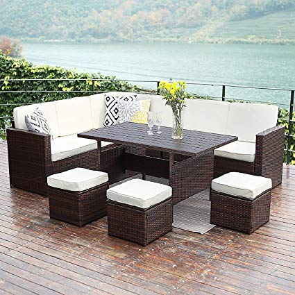 outdoor patio furniture sets wisteria lane patio sectional furniture set,10 pcs outdoor conversation set  all TQRBYRX