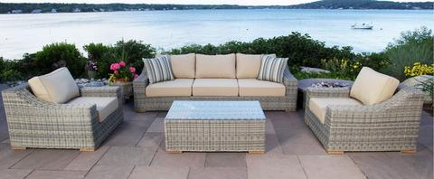 outdoor patio sets monterey 4 piece sectional outdoor