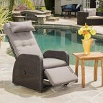 outdoor recliner amazon.com: odina outdoor brown recliner with