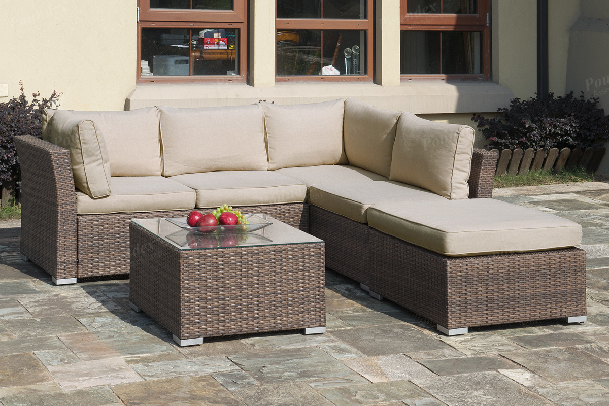 outdoor sectional sofa lizkona outdoor patio 4-pcs sectional